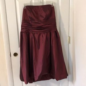 David's Bridal Red Taffeta Bubble Dress Size 20